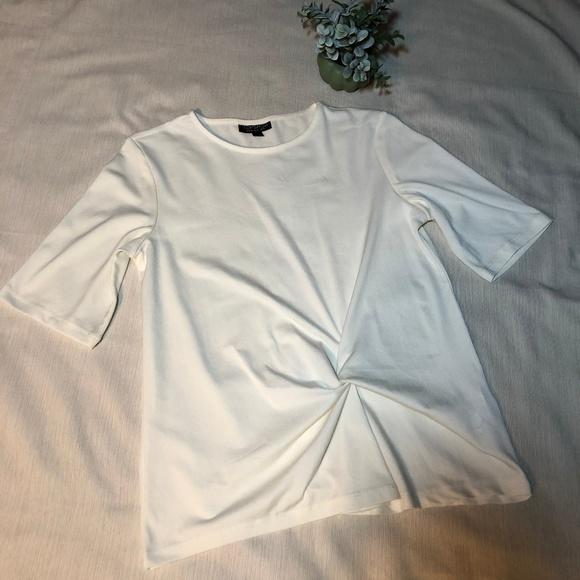 Topshop Tops - Topshop Twist Front Short Sleeve Tee